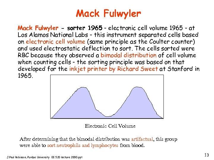 Mack Fulwyler - sorter 1965 - electronic cell volume 1965 - at Los Alamos