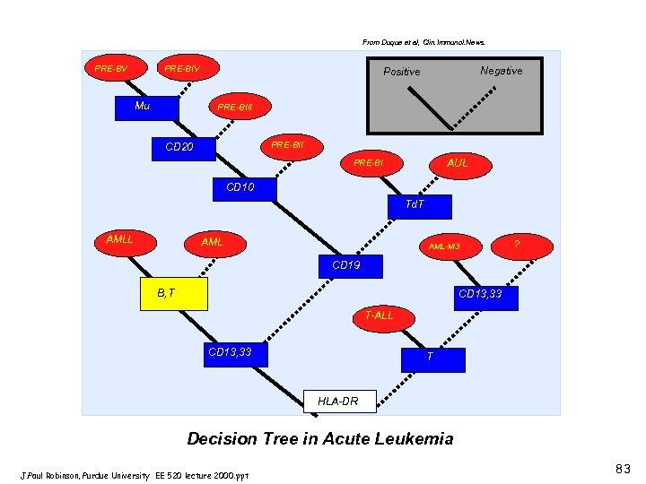 From Duque et al, Clin. Immunol. News. A PRE-BV PRE-BIV Mu Negative Positive PRE-BIII