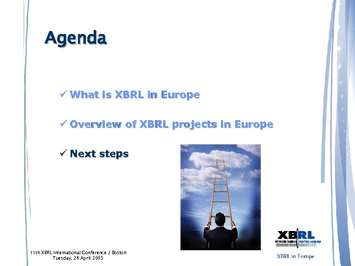 Agenda ü What is XBRL in Europe ü Overview of XBRL projects in Europe