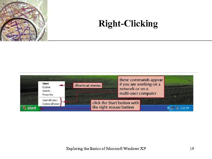 Right-Clicking Exploring the Basics of Microsoft Windows XP XP 19