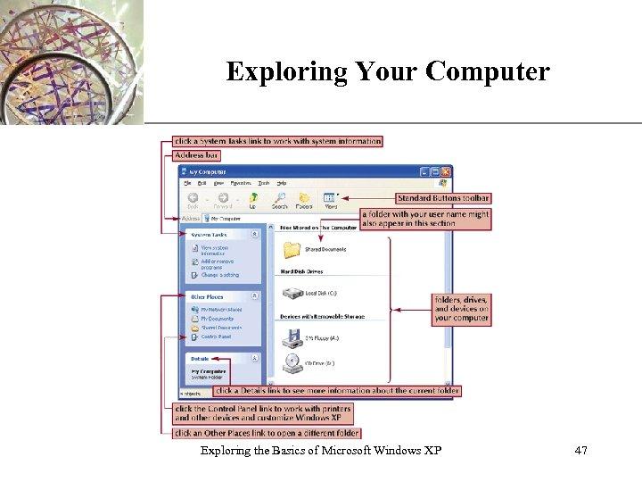 Exploring Your Computer Exploring the Basics of Microsoft Windows XP XP 47