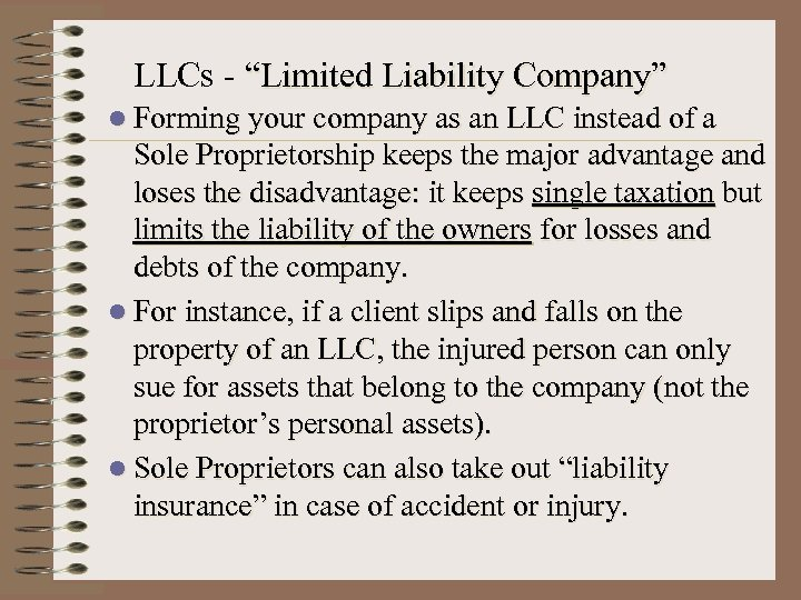 "LLCs - ""Limited Liability Company"" l Forming your company as an LLC instead of"