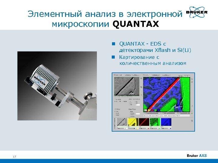Элементный анализ в электронной микроскопии QUANTAX - EDS с детекторами Xflash и Si(Li) Картирование