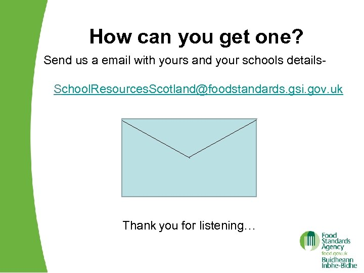 How can you get one? Send us a email with yours and your schools