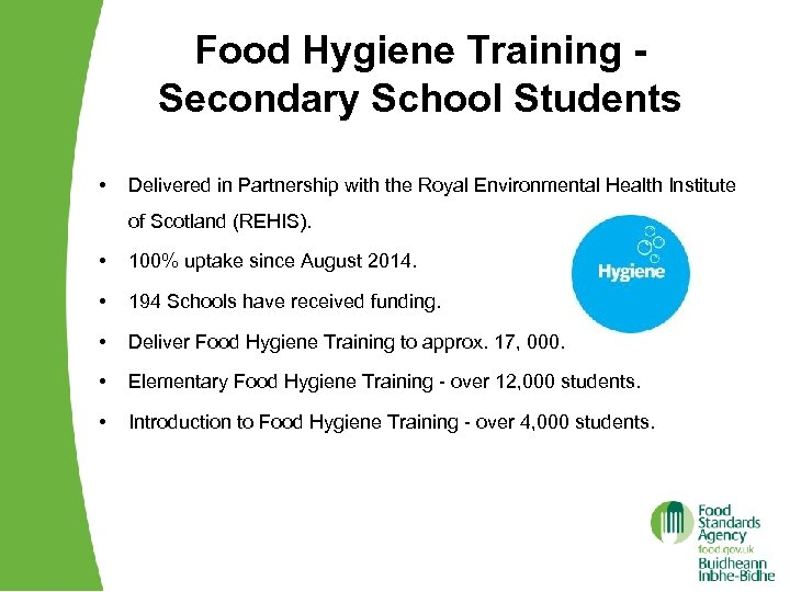 Food Hygiene Training Secondary School Students • Delivered in Partnership with the Royal Environmental