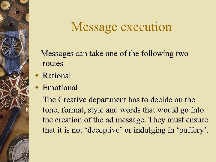 Message execution Messages can take one of the following two routes w Rational w