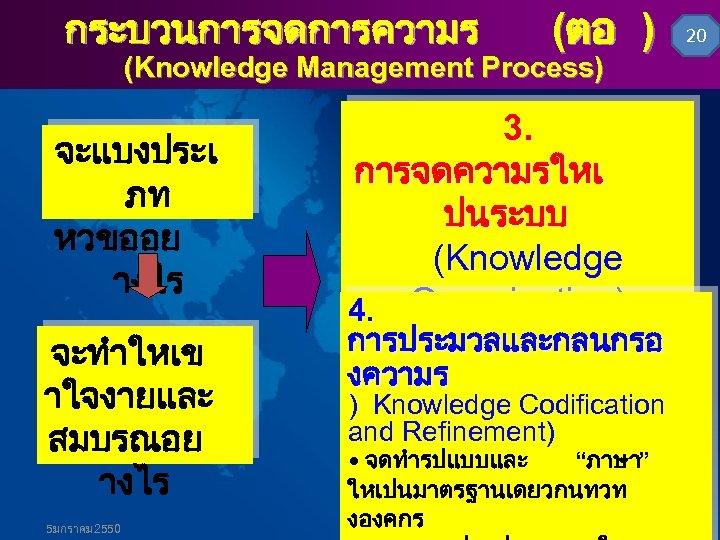 กระบวนการจดการความร (ตอ ) (Knowledge Management Process) จะแบงประเ ภท หวขออย างไร จะทำใหเข าใจงายและ สมบรณอย างไร