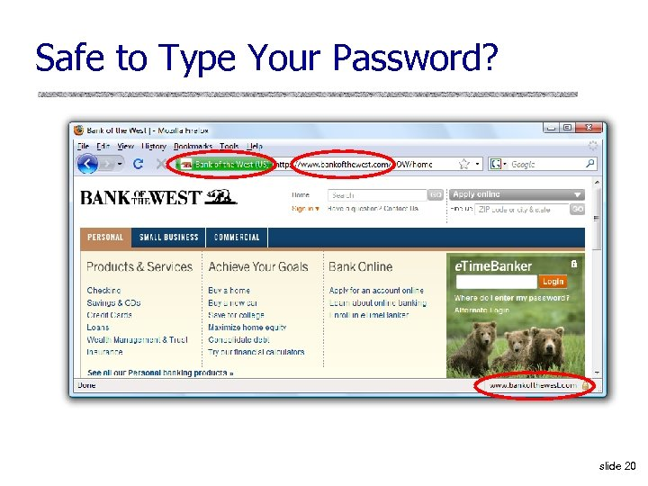 Safe to Type Your Password? slide 20