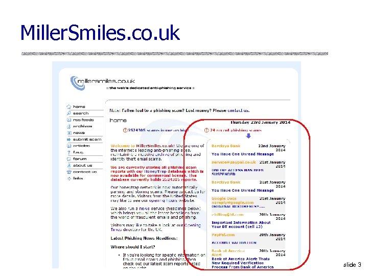 Miller. Smiles. co. uk slide 3