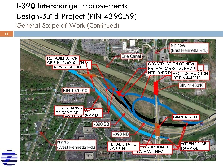 I-390 Interchange Improvements Design-Build Project (PIN 4390. 59) General Scope of Work (Continued) 11