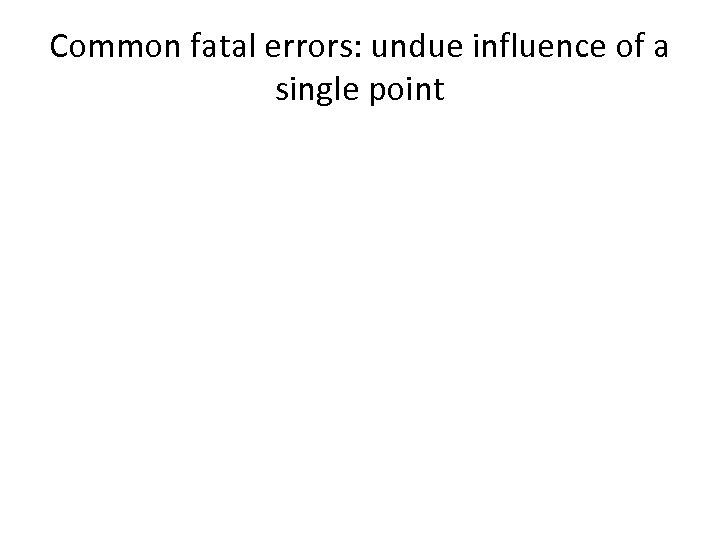 Common fatal errors: undue influence of a single point