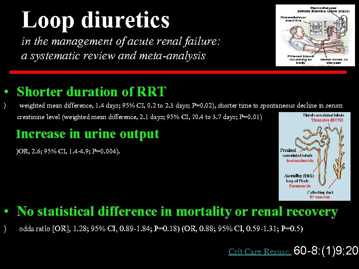 Loop diuretics in the management of acute renal failure: a systematic review and meta-analysis