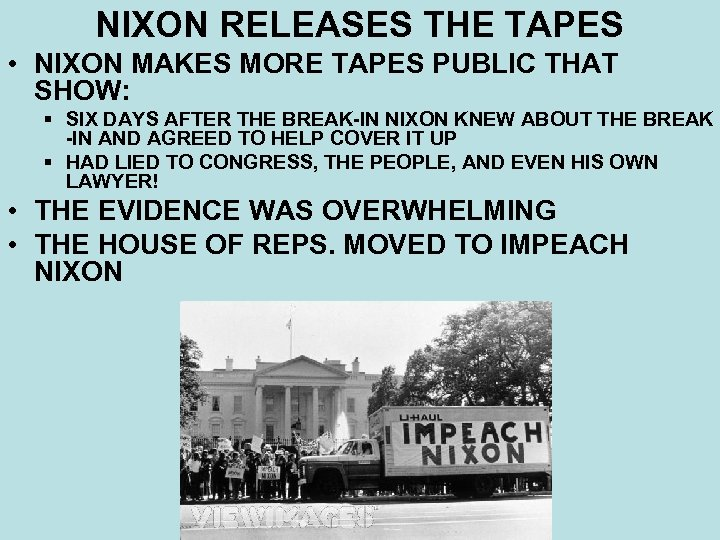 NIXON RELEASES THE TAPES • NIXON MAKES MORE TAPES PUBLIC THAT SHOW: § SIX
