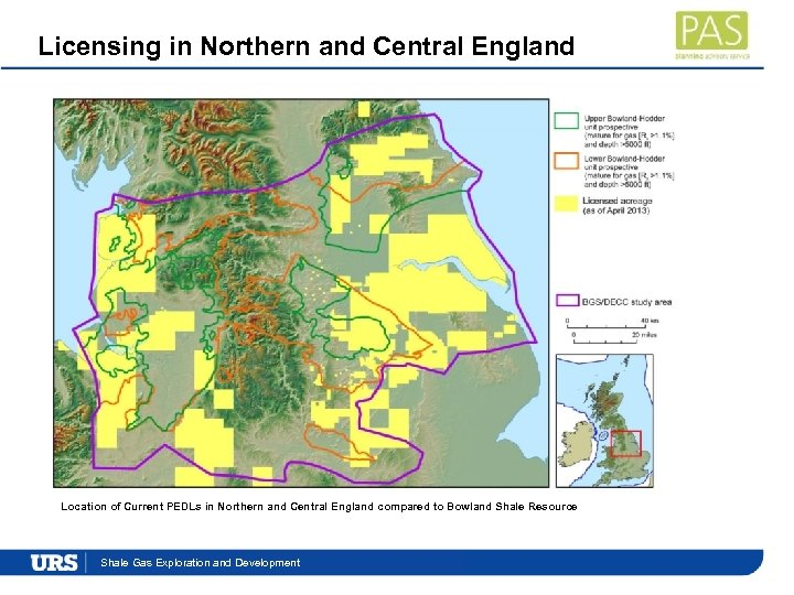 Licensing in Northern and Central England Location of Current PEDLs in Northern and Central
