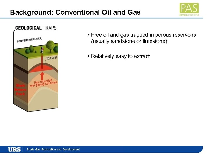 Background: Conventional Oil and Gas • Free oil and gas trapped in porous reservoirs