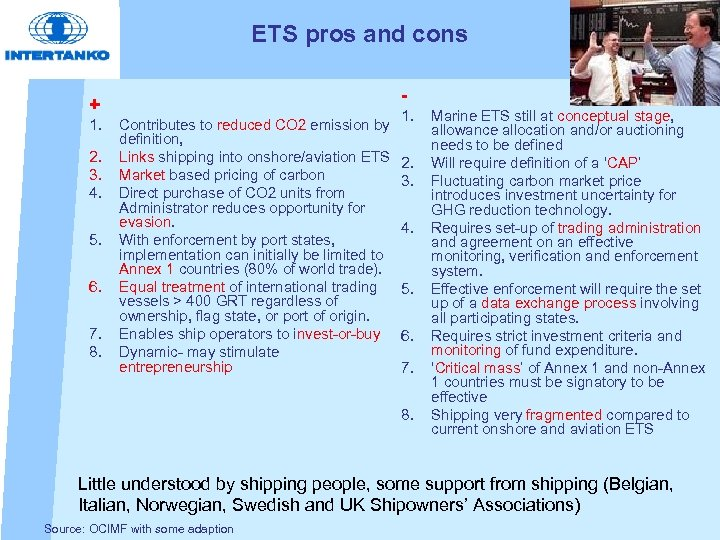 ETS pros and cons - + 1. 2. 3. 4. 5. 6. 7. 8.