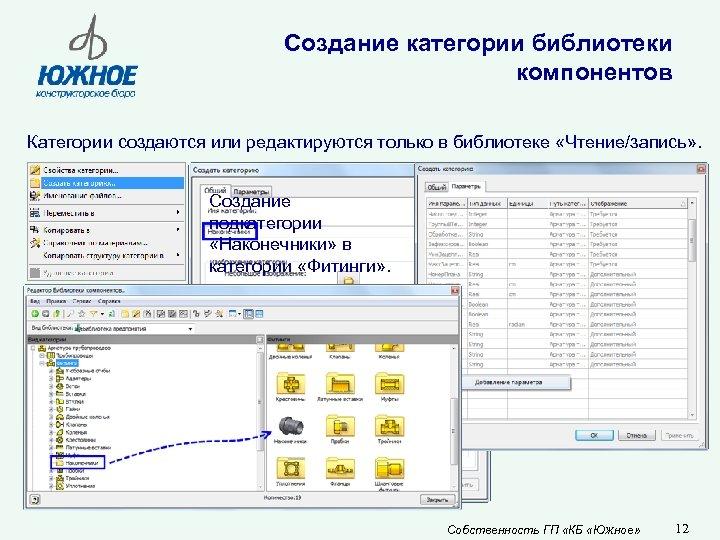 Создание категории библиотеки компонентов Категории создаются или редактируются только в библиотеке «Чтение/запись» . Создание