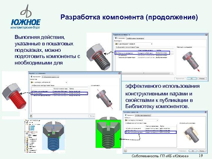 Разработка компонента (продолжение) Выполняя действия, указанные в пошаговых подсказках, можно подготовить компоненты с необходимыми