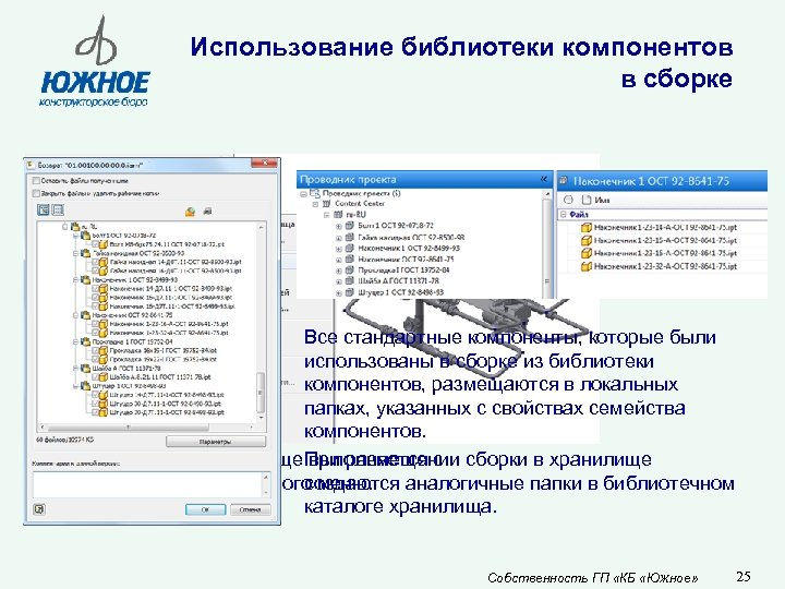 Использование библиотеки компонентов в сборке Все стандартные компоненты, которые были использованы в сборке из