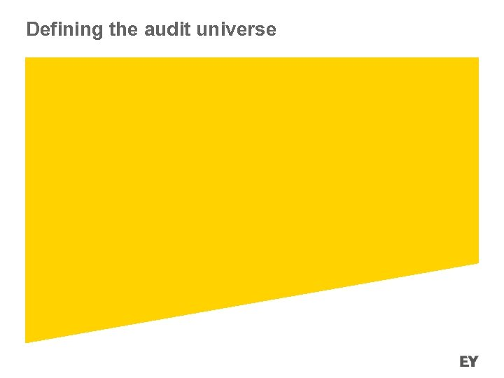Defining the audit universe