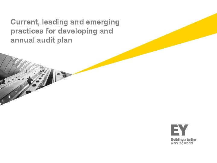 Current, leading and emerging practices for developing and annual audit plan