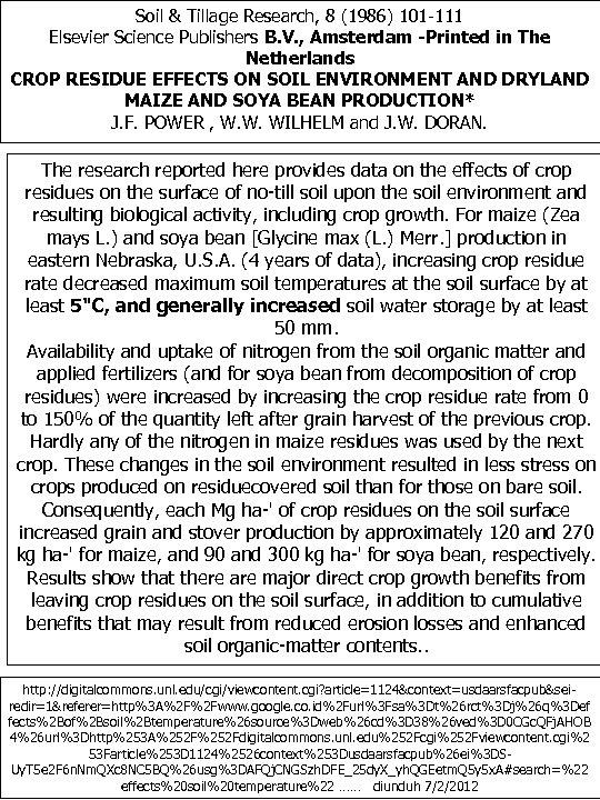 Soil & Tillage Research, 8 (1986) 101 -111 Elsevier Science Publishers B. V. ,