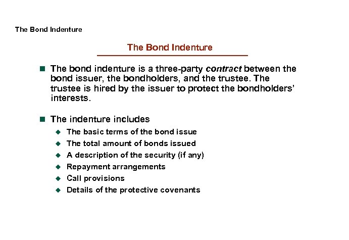 bond indenture