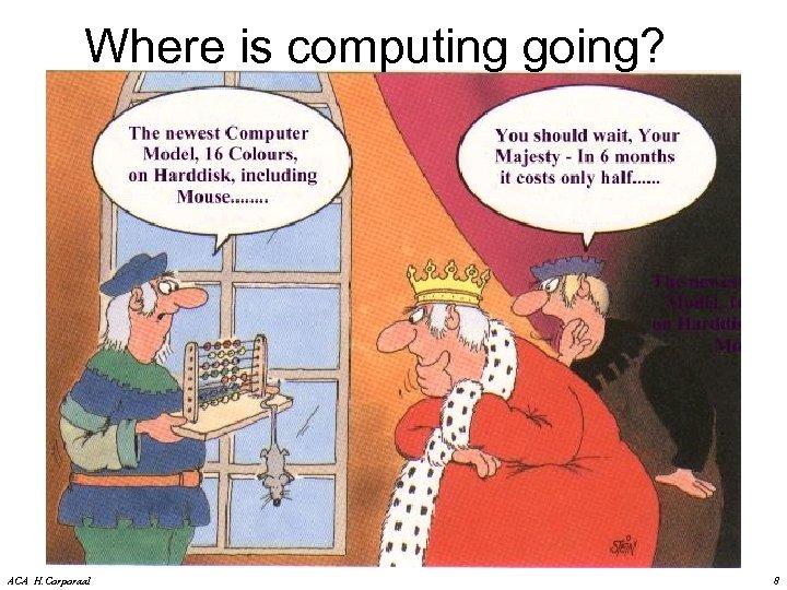 Where is computing going? ACA H. Corporaal 8