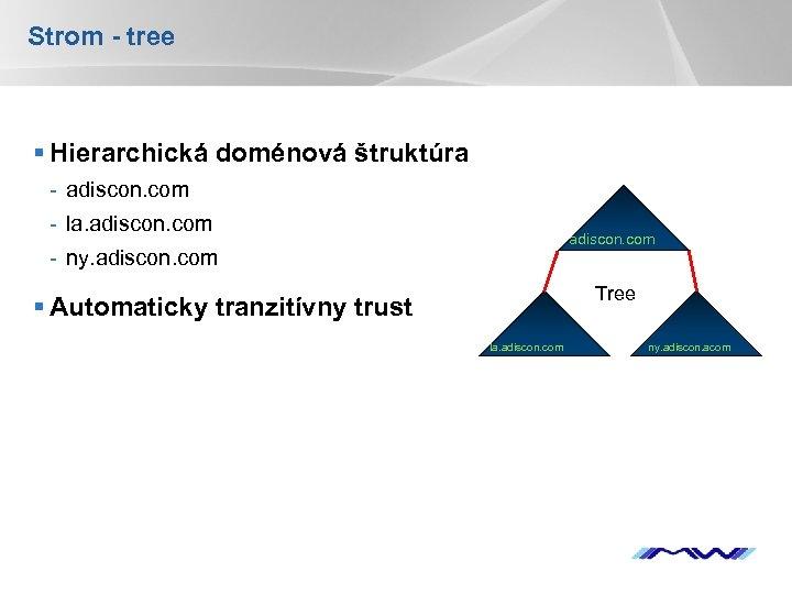 Strom - tree § Hierarchická doménová štruktúra - adiscon. com - la. adiscon. com
