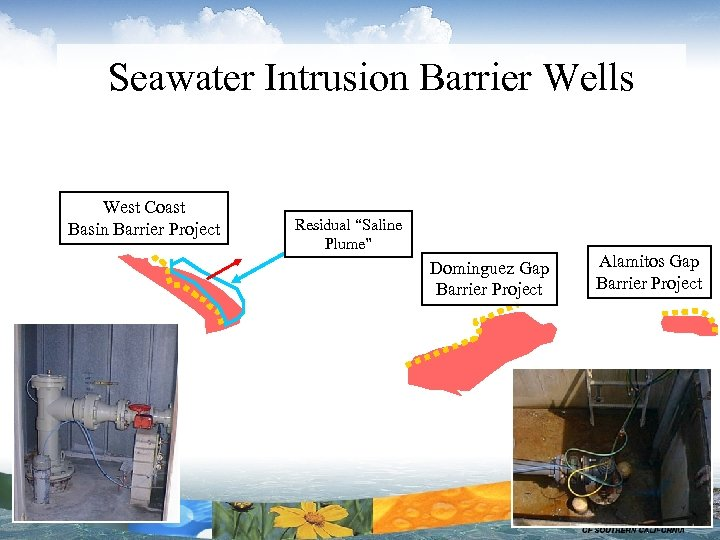 "Seawater Intrusion Barrier Wells West Coast Basin Barrier Project Residual ""Saline Plume"" Dominguez Gap"