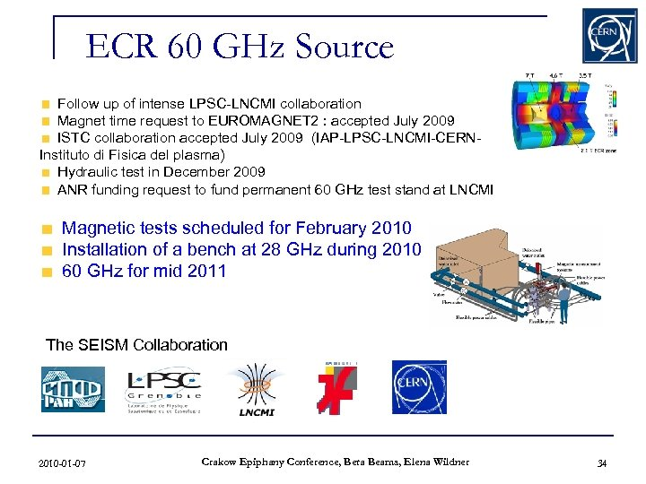 ECR 60 GHz Source Follow up of intense LPSC-LNCMI collaboration Magnet time request to