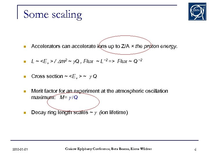 Some scaling n Accelerators can accelerate ions up to Z/A × the proton energy.