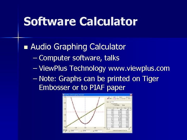 Software Calculator n Audio Graphing Calculator – Computer software, talks – View. Plus Technology