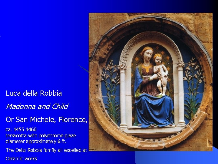 Luca della Robbia Madonna and Child Or San Michele, Florence, Italy ca. 1455 -1460