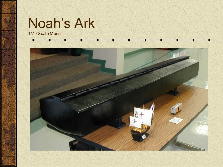 Noah's Ark 1/75 Scale Model