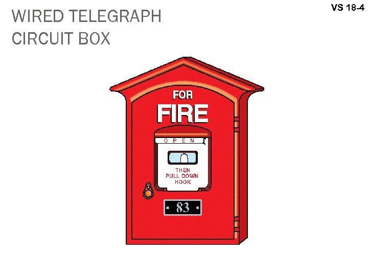 WIRED TELEGRAPH CIRCUIT BOX VS 18 -4
