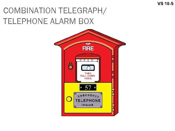 COMBINATION TELEGRAPH/ TELEPHONE ALARM BOX VS 18 -5