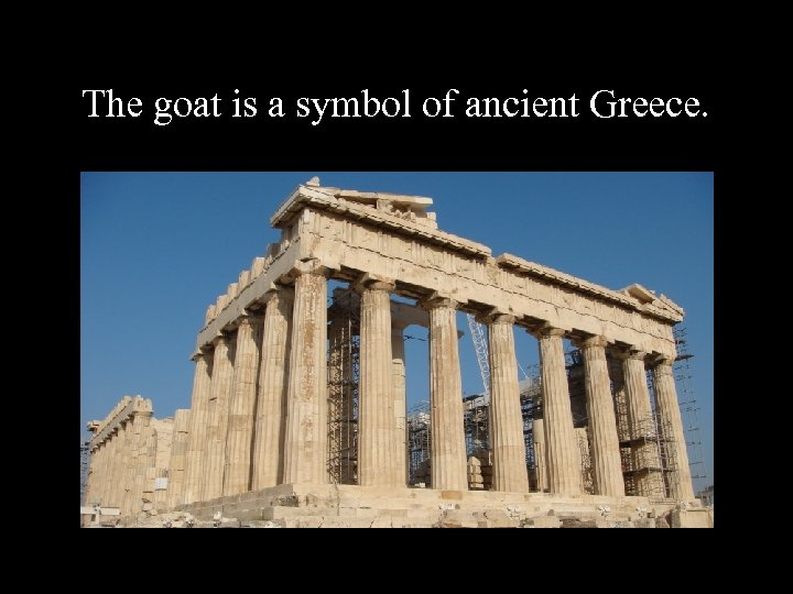 The goat is a symbol of ancient Greece.