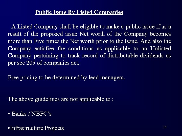 Public Issue By Listed Companies A Listed Company shall be eligible to make a