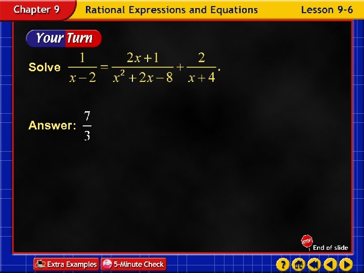 Solve Answer: