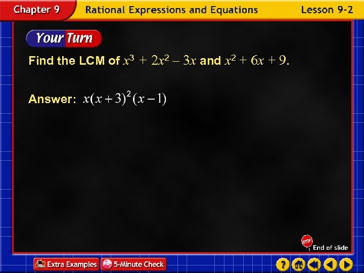 Find the LCM of x 3 + 2 x 2 – 3 x and