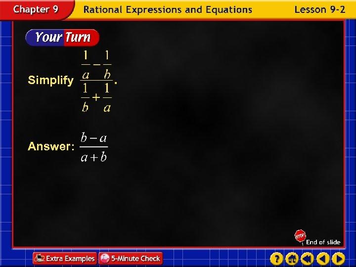 Simplify Answer: