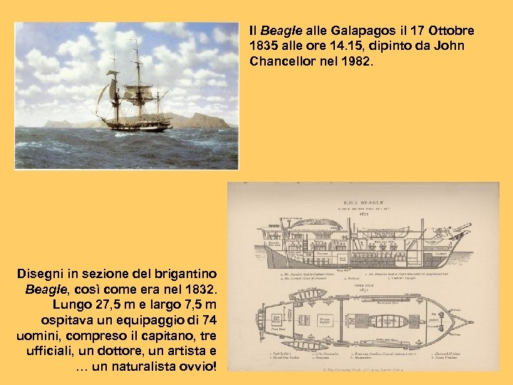 Il Beagle alle Galapagos il 17 Ottobre 1835 alle ore 14. 15, dipinto da