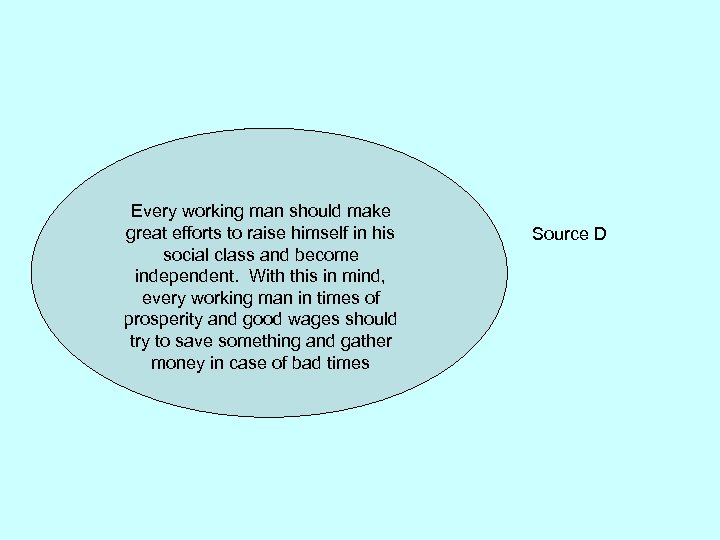 Every working man should make great efforts to raise himself in his social class