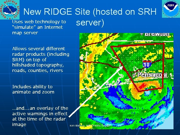 "New RIDGE Site (hosted on SRH Uses web technology to server) ""simulate"" an Internet"