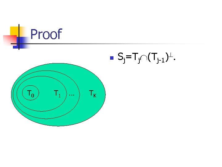 Proof n T 0 T 1 … TK Sj=Tj (Tj-1).