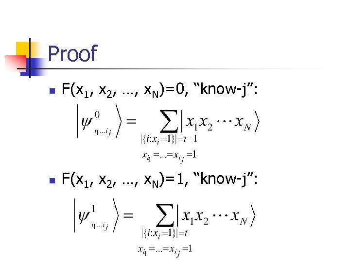 """Proof n F(x 1, x 2, …, x. N)=0, """"know-j"""": n F(x 1, x"""