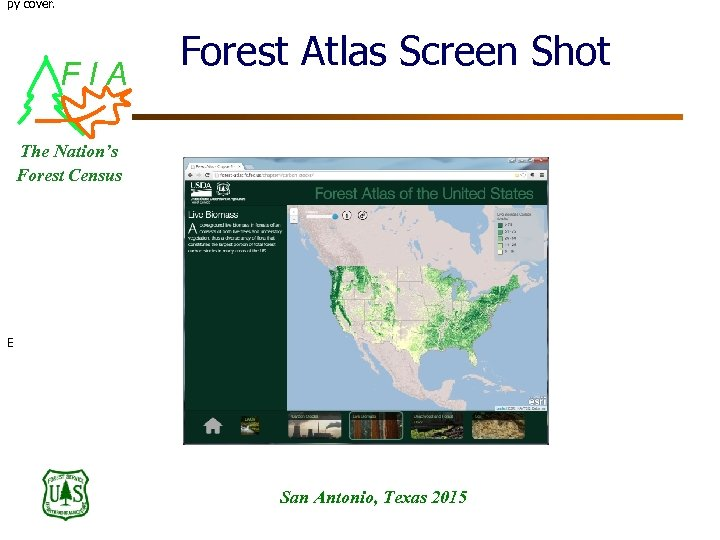py cover. FIA Forest Atlas Screen Shot The Nation's Forest Census E San Antonio,