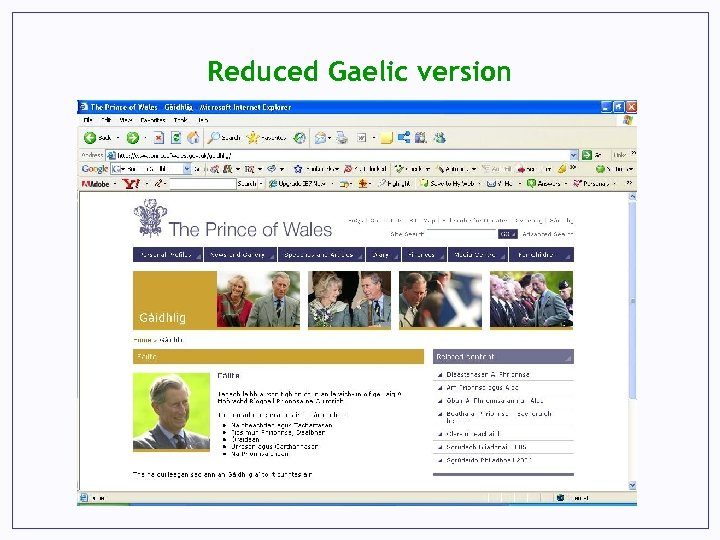 Reduced Gaelic version