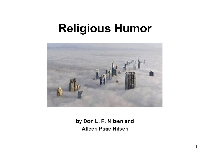 Religious Humor by Don L. F. Nilsen and Alleen Pace Nilsen 1